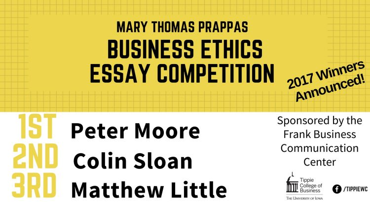 prappas ethics essay winners announced  undergraduate program update prappas ethics essay winners announced