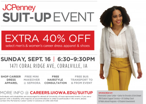 Suit Up Event At Jcpenney Sunday September 16 6 30 9 30 P M