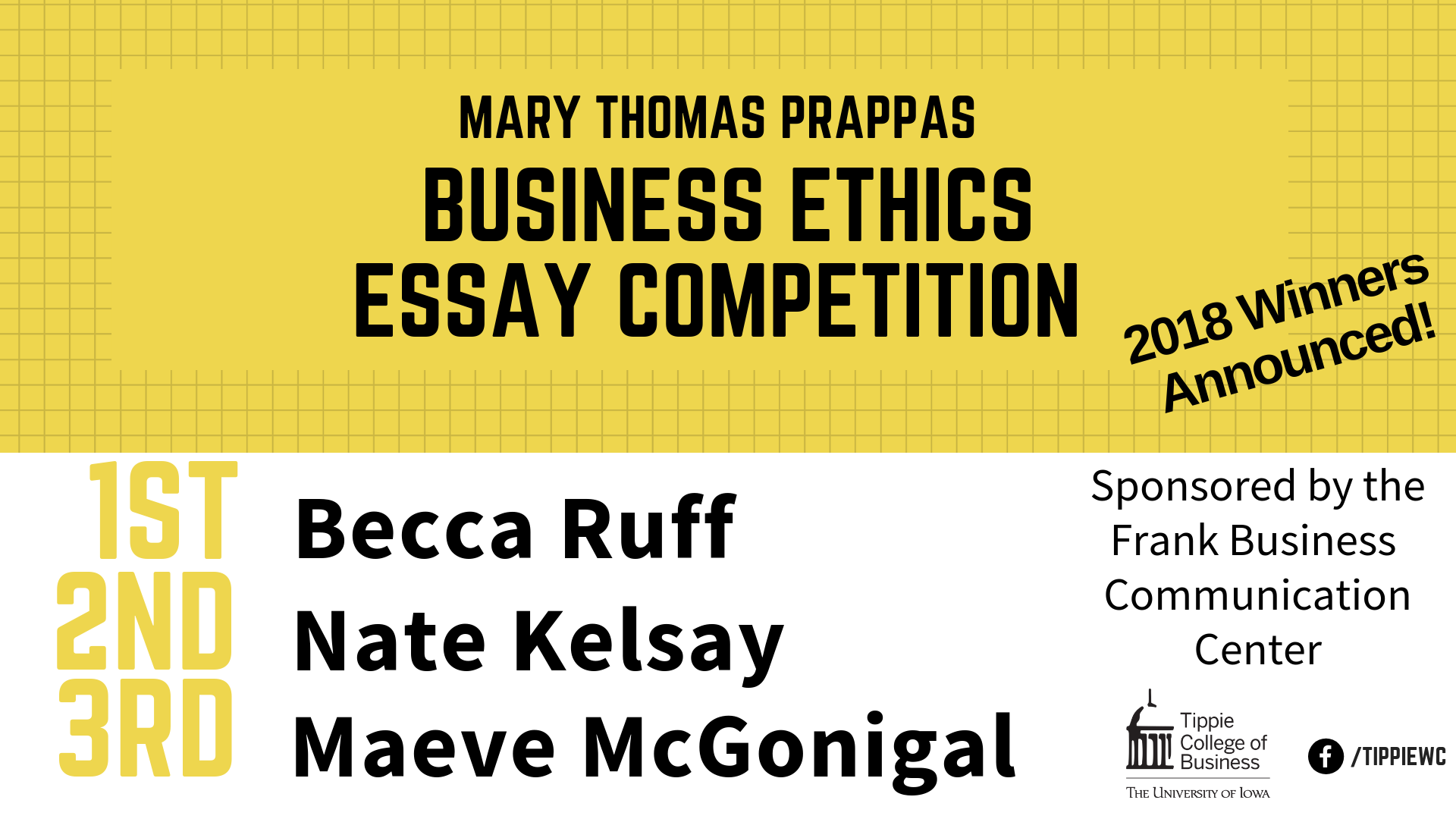 Kafka Essays The Judith R Frank Business Communication Center Is Pleased To Announce  The Winners Of The  Mary Thomas Prappas Business Ethics Essay  Competition Magical Realism Essay also Best Essay On Global Warming  Mary Thomas Prappas Ethics Essay Winners Announced  Describe A Person Essay Example