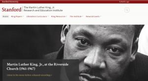 Stanford MLK Institute Landing Page