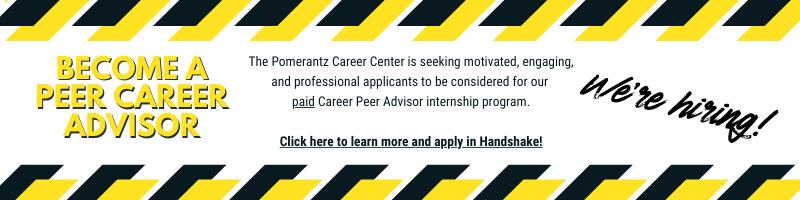 Become a Peer Career Advisor - We're Hiring