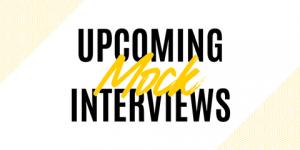 upcoming mock interviews